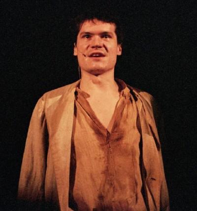 Jaroslav Slánský jako Nikola Šuhaj vinscenaci Balada pro banditu (SDK)