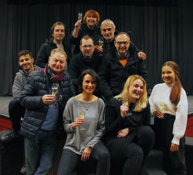 zahajovací zkouška komedie Blbec kvečeři (foto: Divadlo Pluto)