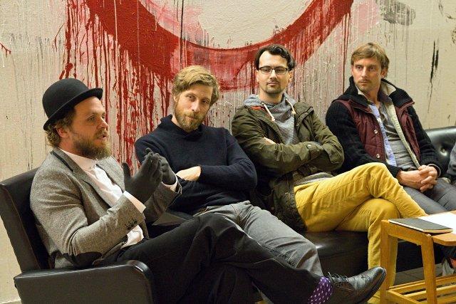 Rosťa Novák, Štěpán Kubišta, Ondřej Cihlář, Václav Kuneš (foto: Michal Novák)