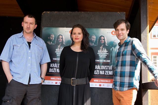 Martin Hofmann, Jitka Čvančarová, Ondřej Novák (foto: Michal Novák)