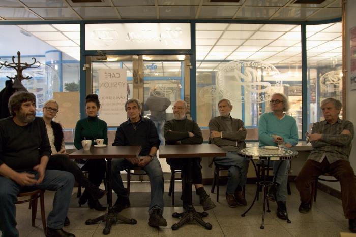 na tiskovém setkání v Café Ypsilon (foto: Michal Novák)