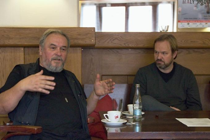 scénograf Emil Konečný a režisér Petr Gazdík (foto: Michal Novák)