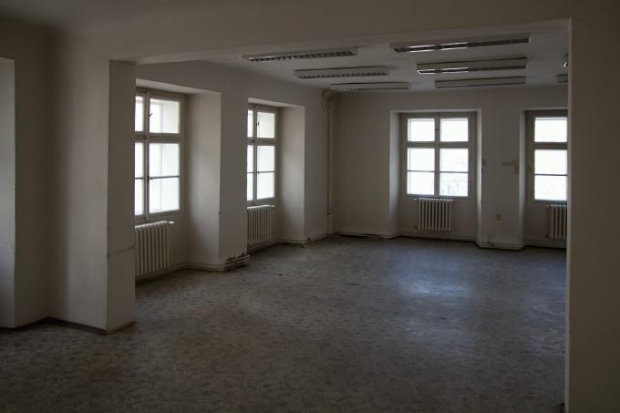 interiér vybydlených Radničních domů