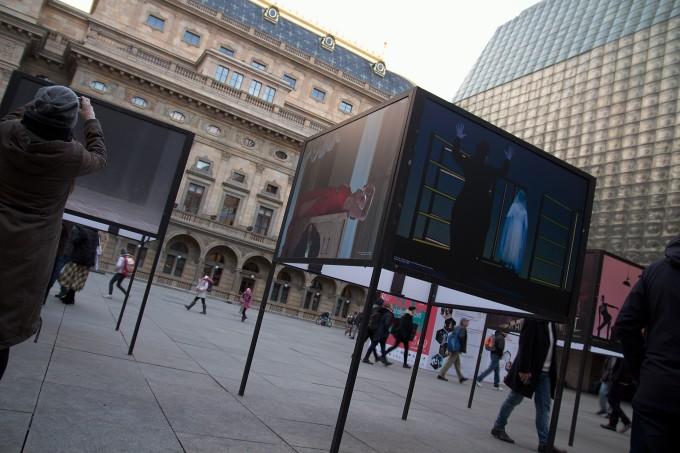 výstava fotografií Viktora Kronbauera na piazzettě ND (foto: Michal Novák)
