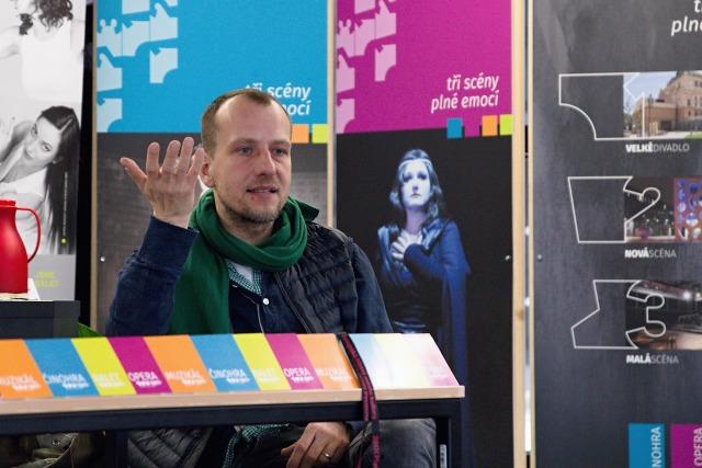 režisér Martin Čičvák na tiskovém setkání (foto: Michal Novák)