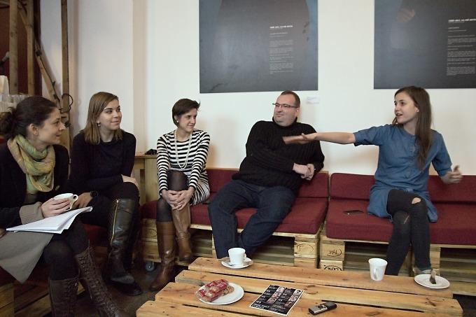 na tiskovém setkání ve Studiu Palm Off (foto: Michal Novák)