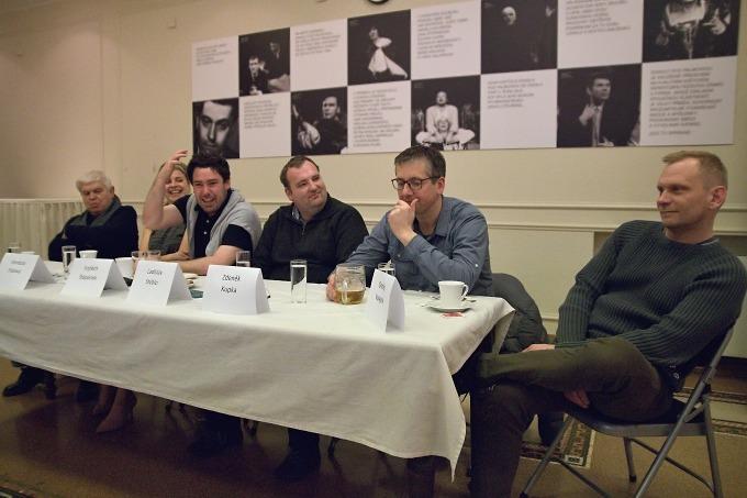 na tiskovém setkání v Divadle pod Palmovkou (foto: Michal Novák)