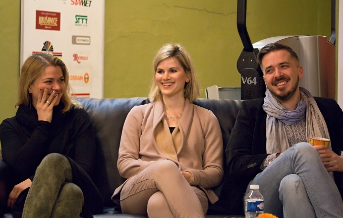 Agnieszka Pátá-Oldak, Adéla Šotolová, Martin Vokoun (foto: Michal Novák)