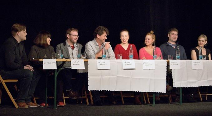 na tiskovém setkání vBranickém divadle (foto: Michal Novák)