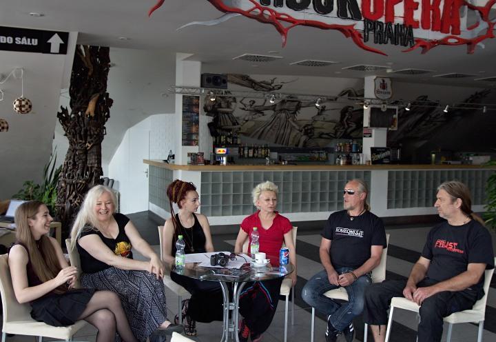 na tiskovém setkání v RockOpeře Praha
