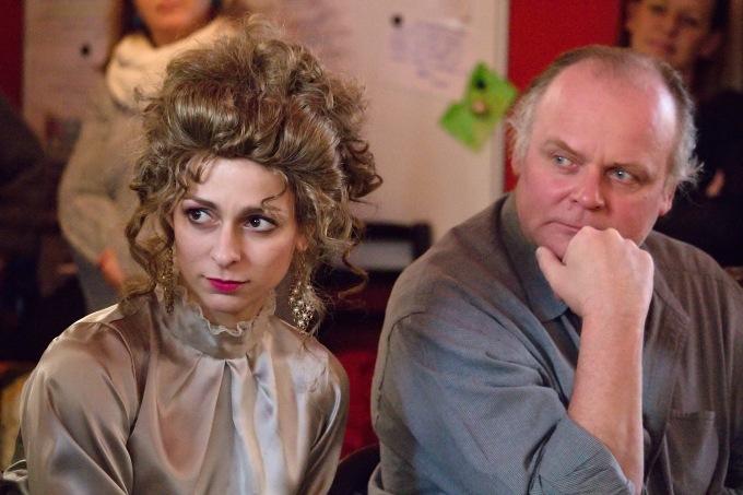Barbora Mošnová (v kostýmu), Igor Bareš