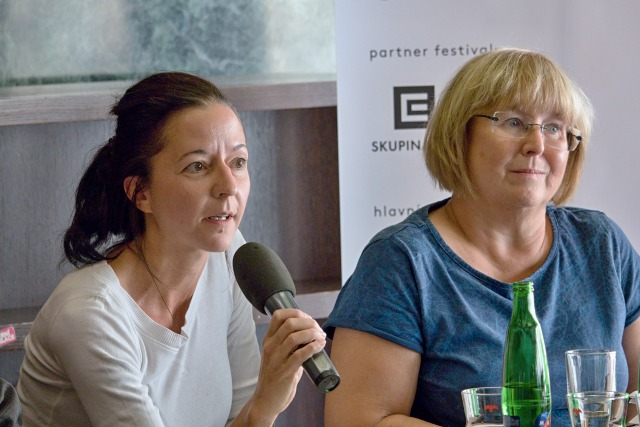 Dora Viceníková a Kamila Černá, členky dramaturgické rady