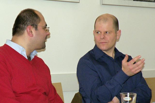 Christian O´Reilly (vpravo) s překladatelem