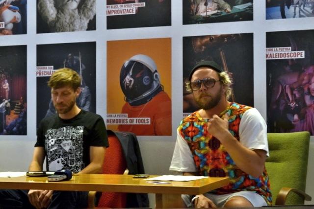 Štěpán Kubišta a Rosťa Novák na tiskovém setkání