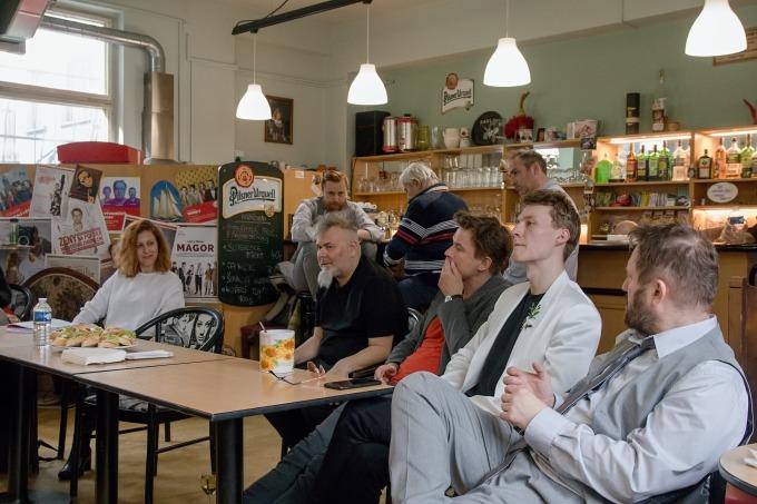 na tiskovém setkání v klubu DNF